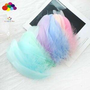 100pcs Natural Goose Feathers 8-12 Cm Swan Plume DIY Carnival Decoration Craft