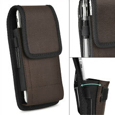 Vertical Carrying Nylon Cell Phone Pouch Case Cover w/ Belt Clip for iPhone 7 8