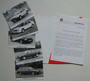 Alfa Romeo 33 1.5 & 1.7 1988-89 Original UK Press Release & 5 Photographs