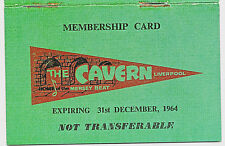 CAVERN CLUB Membership ID Card Beatles Mersey Beat 1964 Autographs Music Venue
