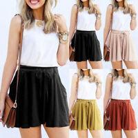 Hot Pants Casual Baggy Loose Mini Skirt High Waist Short Trousers Women Summer