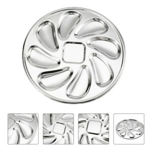 Stainless Steel Oysters Dinner Plate Slots Clam Oyster Serving Grilling Pan