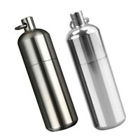 Waterproof Titanium Capsule Cash Clip Stash Keyring Pill Case Box Organizer