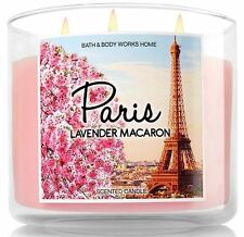 Bath & Body Works PARIS LAVENDER MACARON 3 Wick 14.5 oz Jar Candle NEW