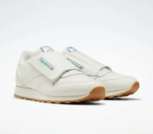 Reebok Classic Leather Stomper Shoes, Size 9, Chalk White, New, Alien EF3379