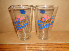 2 - Labatt Blue - Pilsner - Hockey Puck Beer glasses