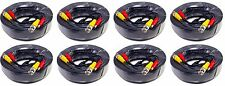 8pcs 50ft Video Power All-in-One CCTV Cable Support HD-CVI, HD-TVI, AHD. black
