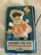 """Uneeda Precious Pee Wee Old Fashioned Collectable Doll 4"""" Peach Dress"""