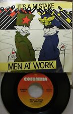 Rock Picture Sleeve 45 Men At Work - It'S A Mistake / Shintaro On Columbia