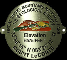 Mount Mt LeConte Great smoky Mountains GSM TN NC walking Stick Hiking Medallion