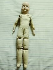 """Antique German Doll 22"""", Leather Body, As Is for Parts or Repair, Am 370"""