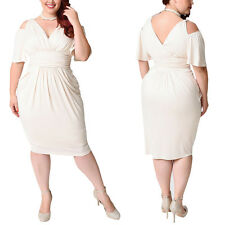 Plus Size Women's Evening Party Prom Gown Formal Bridesmaid Cocktail Dress L-5XL