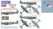 Montex 1/24 masks, nose art and stencils for SPITFIRE VB by AIRFIX - K24080