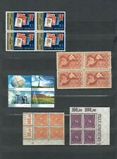 WORLDWIDE   COLLECTION  MNH BLOCK 4 STAMP LOT ( WW  30)