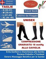 Gambaletti a Compressione Graduata Calze da Viaggio Riposanti 1 Paio Made Italy