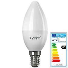 LUMIRA LED SMD Lampe E14 5W Watt 180° C37 Leuchte Kerze 400 Lumen Warmweiß