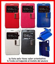 Funda Libro con Ventana Para Samsung Galaxy S II 2 S2 SII i9100  de polipiel