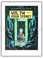 Affiche Sérigraphie Tintin Vol 714 pour Sydney 60x80 cm