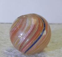 #12750m Vintage German Handmade Onionskin Marble .73 Inches