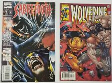 GI) Lot of 2 Marvel Wolverine Sabretooth Comic Books