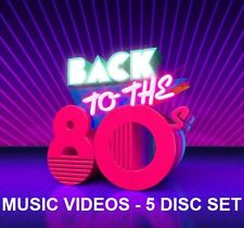 80's Rock & Pop Music Videos Dvds - 5 Disc Set- Hard Rock, Hot, Cool, Female Pop