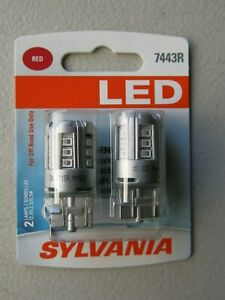 Sylvania LED Light 7443R Two Lamps Red Off Road 12.8V 2.5/0.5W