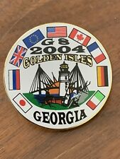 2004 Georgia Sea Island Golden Isles G8 Summit Pin Souvenir