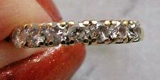 18ct Gold 0.50ct Diamond Half Eternity Wedding Ring ~ 2.6gms - UK M US 6 ~ R0132