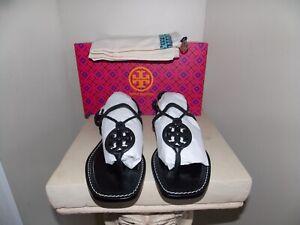 Women's NIB Black TORY BURCH Miller Braided Ankle Wrap Sandal Size 10