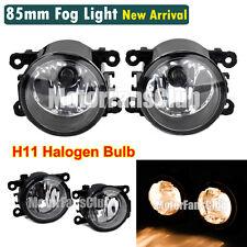 Pair Fog Lamp Light Projector Lens H11 Halogen Bulb For Ford Mustang Focus DRL