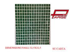 Mosaico pasta di vetro su carta rivestimento ceramica verde scuro 1,05mq 10 pz.