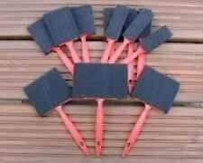 """12pc Schiuma PENNELLO PENNELLI 1 """" 2"""" 3 """" 4"""" Artigianato Hobby IDEALE PER VERNICI & Crafts"""