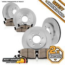 Front & Rear Rotors + Ceramic Pads For Buick Enclave Chevy Traverse Outlook