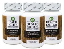 Elk Velvet Antler Extract, Pantocrin 180 Capsules 300 Mg (3 Month Supply)