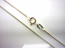 "STERLING SILVER 18"" SNAKE CHAIN - 925 ITALIAN SILVER chain (length) 18 inches"