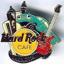Hard Rock Cafe JAKARTA 1990s Skyline Animated PIN with Guitar & HRC Logo #3741