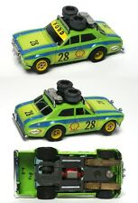 1981 Aurora AFX G-PLUS G+ #28 Rallye Ford Escort Slot Car #1737 V.RARE STENCILED