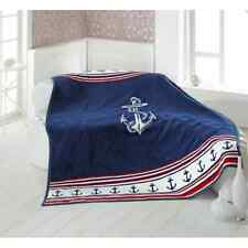Nautical Blanket with Anchor for Boats and Yachts