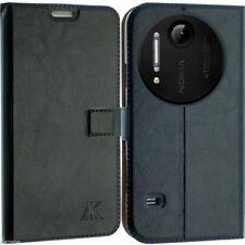 Per Nokia Lumia 1020 pelle Case Cover Wallet Pouch FLIP BACK SCREEN Pelle N1020