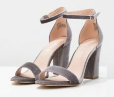 Madden Girl BEELAA - High Heeled Sandals GREY VELVET SIZE UK 8