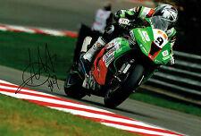 Chris WALKER The Stalker Autograph 12x8 Signed Kawasaki BSB Photo AFTAL COA