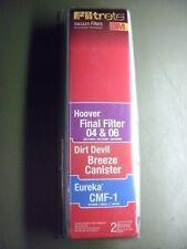 Filtrete Eureka CMF-1 , Hoover Final Filter 04 & 06 , Dirt Devil Breeze Canister