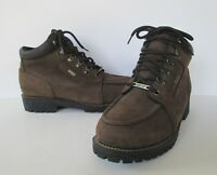 Eddie Bauer Mens Brown Leather Hiking Work Everyday Oil Resistant Gortex Boot 10