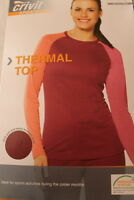Thermal Top Women Red size S 10/12 M  14/16 L 18/20  Sports Activities Winter