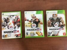 Xbox 360 - EA Sports - Madden 2010, 2011, and 2012 - lot of 3