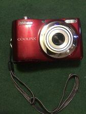 Nikon COOLPIX L24 14.0MP Digital Camera Red with 8gb Card USA Seller
