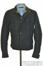 MATCHLESS Motorcycle Company Solid Blue Cotton Mens Jacket Coat - LARGE
