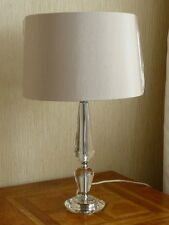 ENDON ASTORIA CHROME CRYSTAL BASE TABLE LAMP CONTEMPORARY NEUTRAL SHADE