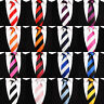 Men's Striped Skinny Woven Microfibre Polyester Tie - Evening Work Party