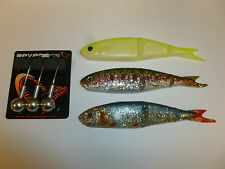 SAVAGE GEAR 13cm SOFT 4PLAY FISHING LURES WITH BALL JIG HEADS ! crazy price!
